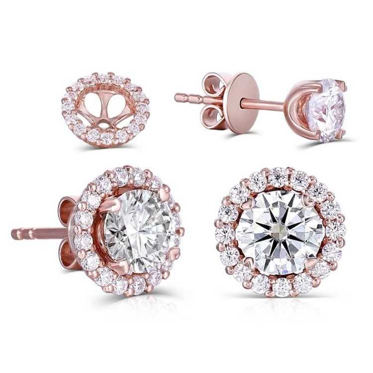 Buy Moissanite Earrings Online - Infinity Diamond